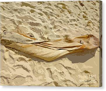 Canvas Print - Leaf In The Sand by Francesca Mackenney