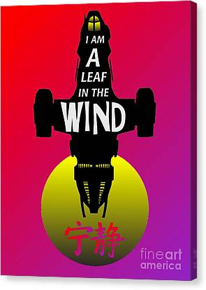 Leaf In The Wind Canvas Print