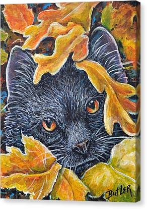 Leaf Jumper Canvas Print by Gail Butler