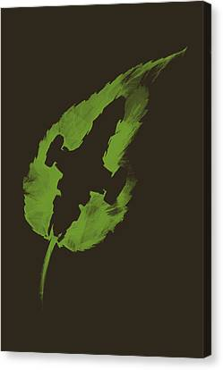 Leaf On The Wind Canvas Print by Vincent Carrozza