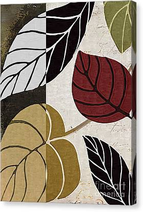 Leaf Story Canvas Print by Mindy Sommers