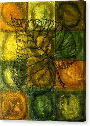 Leaf Whisper Canvas Print by Leon Zernitsky