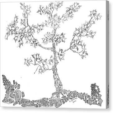 Leafy Jewels Canvas Print by Regina Valluzzi
