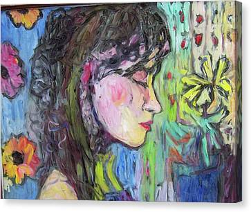 Leahannah Up Close Canvas Print by Mykul Anjelo