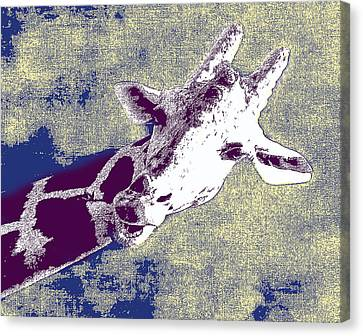 Giraffe Abstract Canvas Print - Lean In To It by Bill Cannon