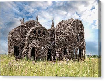 Lean On Me - Stick House Series 1/3 Canvas Print