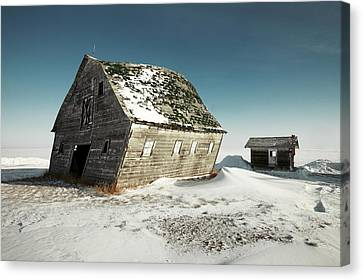 Leaning Barn Canvas Print by Todd Klassy