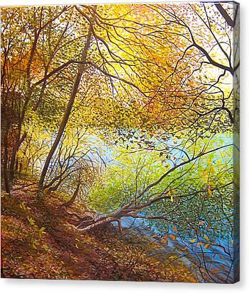 Leaning Toward Autumn Canvas Print by David Bottini