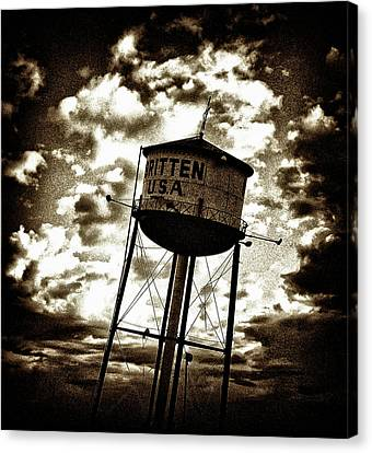 Leaning Tower Of Texas Canvas Print by Dennis Sullivan