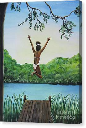 Leap Of Faith Canvas Print by Kris Crollard