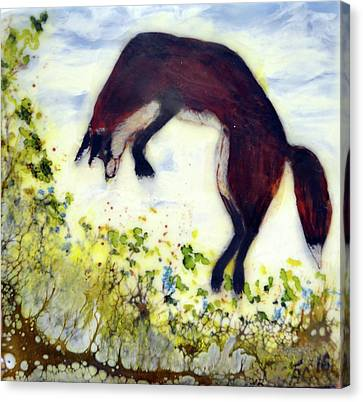 Leaping Fox 1 Canvas Print
