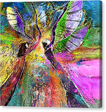 Learning To Fly Canvas Print by Miki De Goodaboom