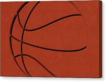 Leather Basketball Art Canvas Print by Joe Hamilton