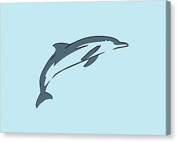 leather Dolphin Canvas Print