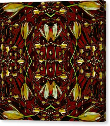 Leather In Floral Harmony And Peace Canvas Print by Pepita Selles