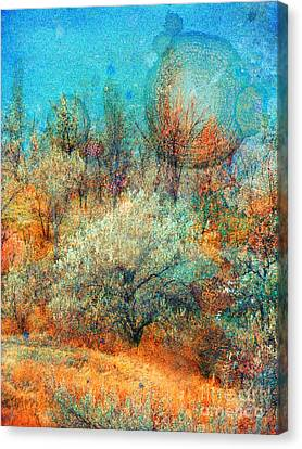 Leave It To The Trees To Dance In The Cold Canvas Print by Tara Turner