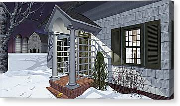 Canvas Print featuring the photograph Leave The Porch Light On by Peter J Sucy