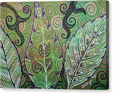 Leaves And Spirals Canvas Print
