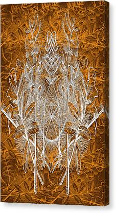 Leaves And Twine Canvas Print by Evelyn Patrick