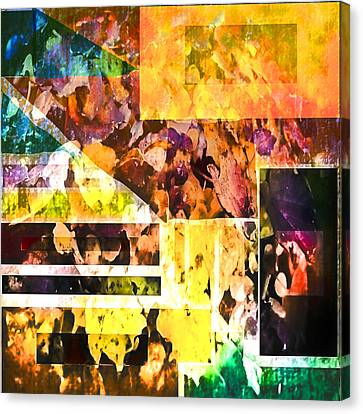Canvas Print featuring the digital art Leaves by Dale Stillman