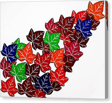 Leaves Canvas Print by Oliver Johnston