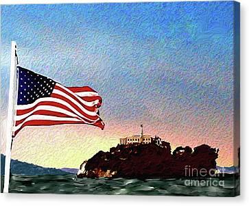 Alcatraz Canvas Print - Leaving Alcatraz by Methune Hively