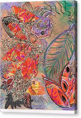 Leaving All Behind Canvas Print by Anne-Elizabeth Whiteway