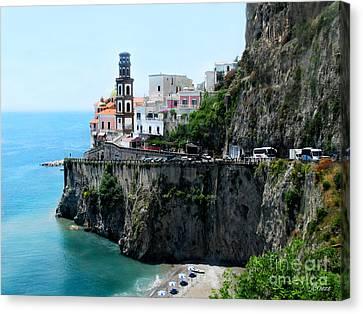 Leaving Atrani  Italy Canvas Print