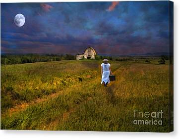 Leaving Canvas Print by Darren Fisher