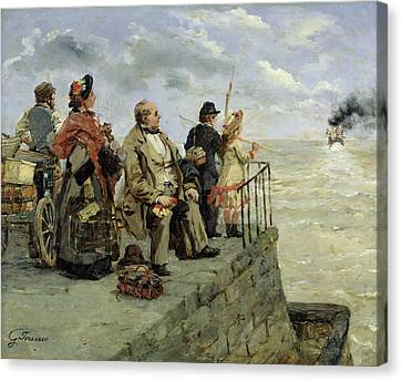 Leaving For Jersey  Canvas Print by Guillaume Romain Fouace