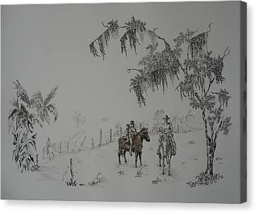 Leaving Home Canvas Print by Gloria Reyes Diaz
