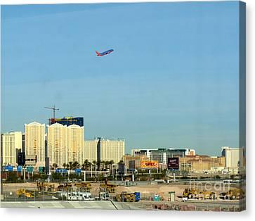 Leaving Las Vegas Canvas Print by David Bearden