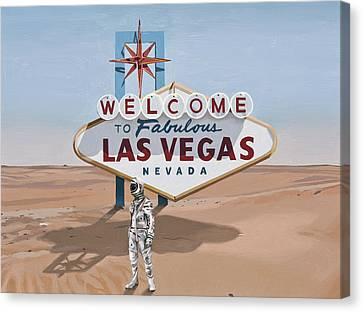Leaving Las Vegas Canvas Print by Scott Listfield