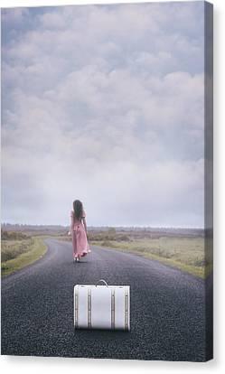Long Street Canvas Print - Leaving My Baggage Behind Me by Joana Kruse