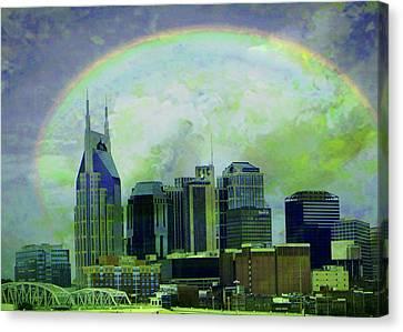 Leaving Nashville Canvas Print by Janet Duffey