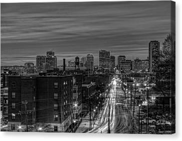 Leaving On Main Canvas Print by Tim Wilson