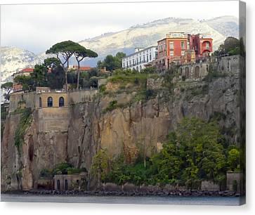 Leaving Positano Canvas Print by Janet Fikar