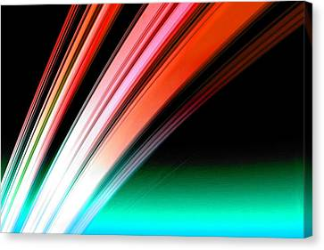 Cosmology Canvas Print - Leaving Saturn In Fire Opal by Pet Serrano