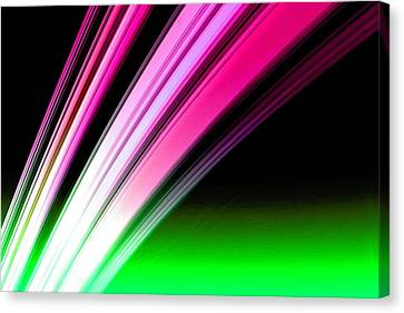 Cosmology Canvas Print - Leaving Saturn In Hot Pink And Green by Pet Serrano