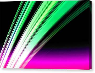 Leaving Saturn In Pink And Mint Canvas Print by Pet Serrano