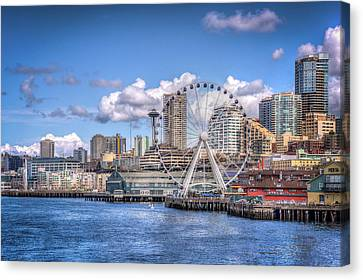 Leaving Seattle Canvas Print by Spencer McDonald