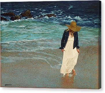 Leaving The Beach Canvas Print