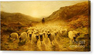Leaving The Hills, 1874 Canvas Print