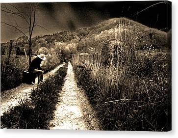 Canvas Print featuring the photograph Leaving This Town by Gray  Artus