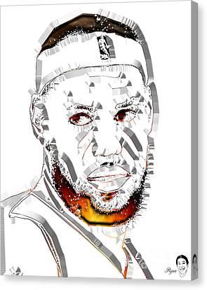 Lebron James Basketball Canvas Print by Dalon Ryan