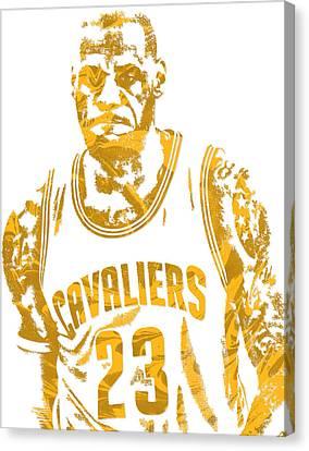 Lebron James Cleveland Cavaliers Pixel Art 10 Canvas Print