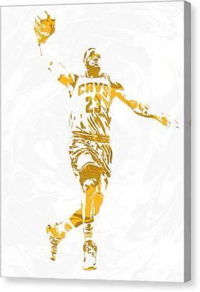 Lebron James Cleveland Cavaliers Pixel Art 12 Canvas Print