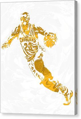 Lebron James Cleveland Cavaliers Pixel Art 15 Canvas Print