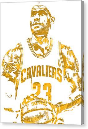 Lebron James Cleveland Cavaliers Pixel Art 8 Canvas Print