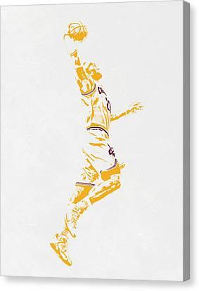 Nba Canvas Print - Lebron James Cleveland Cavaliers Pixel Art by Joe Hamilton